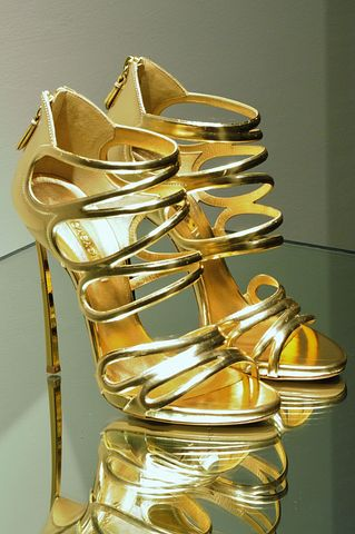 High Heels, Stilettos, Heels, Gold, Gilded, Shoe, Style