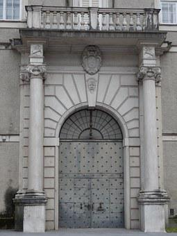 Door, Arch, Balcony, Entrance, Historic, Europe