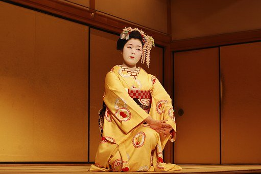 Japan, Theatre, Kimono, Gueisha, Scenario, Kabuki