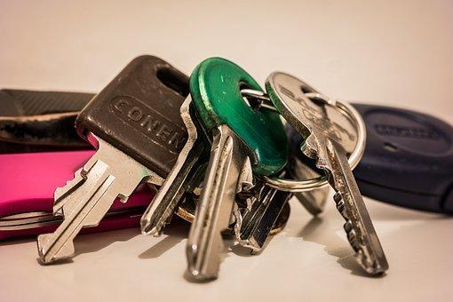 Key, Keychain, Door Key, House Keys, Car Keys, Metal