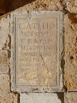 Tombstone, Roman Tombstone, Latin, Registration