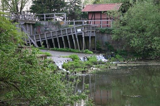 Meinersen, Fish Ladder, Okersperwerk, River, Low Axles