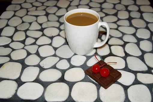 Coffee, Cherries, Chocolate, Mosaic, River Rock, White