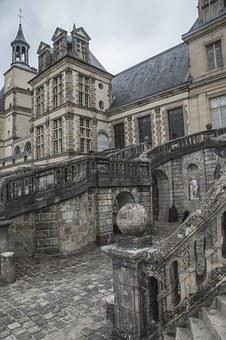 Fontainebleau, Castle, Pierre, France, Stone Wall