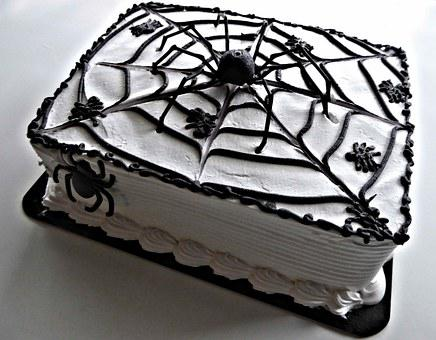 Halloween Spider Cake, Chocolate White Frosting, Sweet