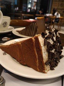 Cake, Chocolate, Teatime, Chocolate Cake, Food, Dessert