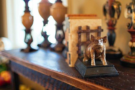 Bookend, Figurine, Figure, Decoration, Wood, Carved