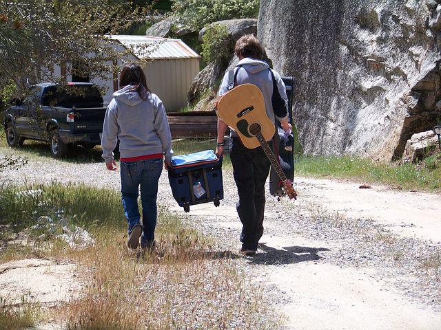 Walk, Guitar, Ice Chest, Relax, Young, Walking, Music
