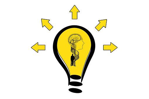 Light Bulb, Brain, Stairs, Head, Man, Idea, Silhouette