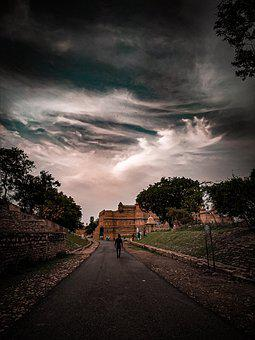 Gwalior Fort, Road, Sunset, Path, Walk, Travel, Castle