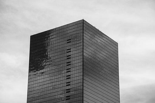 Building, Skyscraper, Glass Facade, Monochrome, Facade