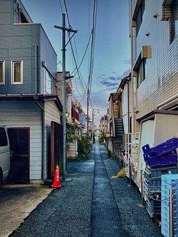 Alley, Alleyway, Japan, Back Alley, Backstreet