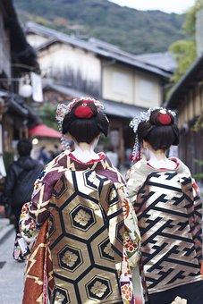 Women, Kimono, Geisha, Maiko, Japanese Style