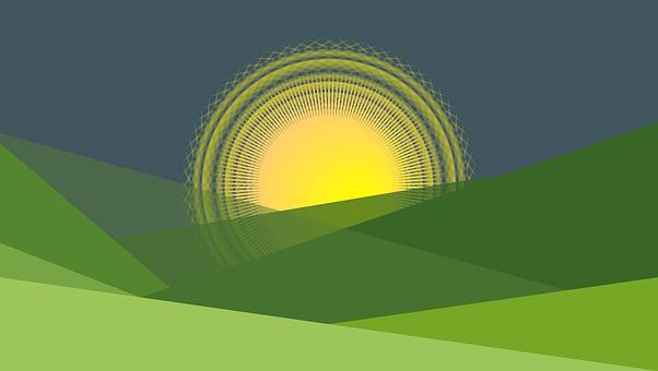 Sunset, Mountains, Nature, Dusk, Landscape, Sun