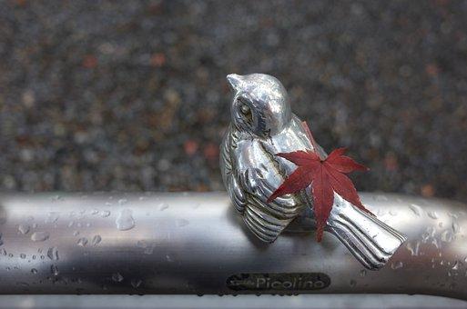 Bird, Metal Sculpture, Maple Leaf, Animal, Sculpture