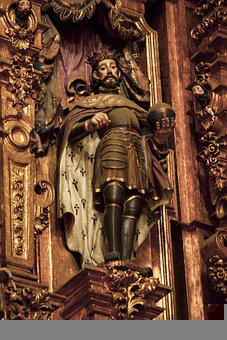 Statue, Cathedral, Church, Luis Rey, Mexico, Religion