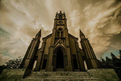Cathedral, Vintage, Photography