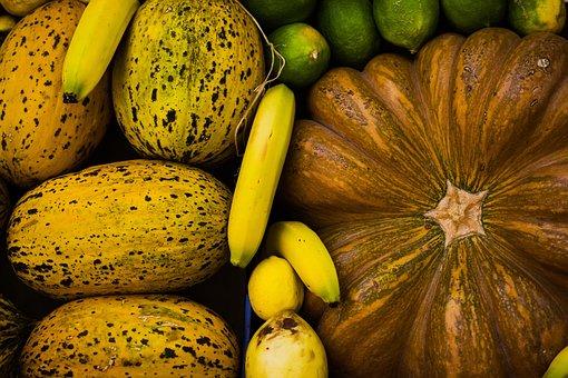Pumpkin, Banana, Vegetables, Fruits, Squash, Lemon