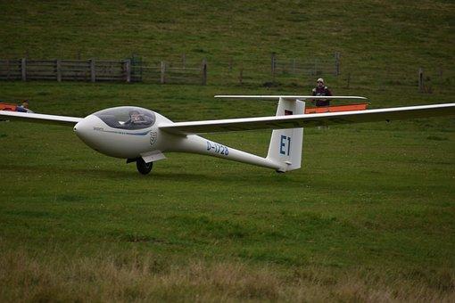 Glider, Aircraft, Glider Pilot, Aviation, Landing