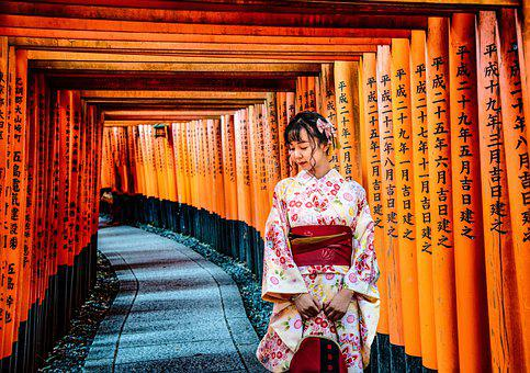 Geisha, Shrine, Temple, Traditional, Costume, Kyoto