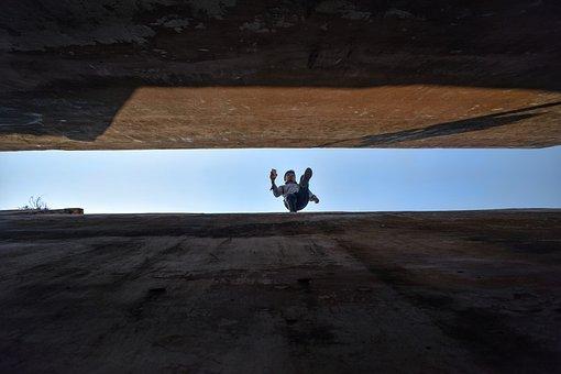Wall, Jump, Man, Adventure, Adrenaline, Skyfall