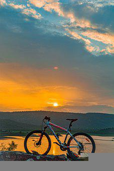 Bicycle, Nature, Travel, Adventure, Outdoors, Sunset