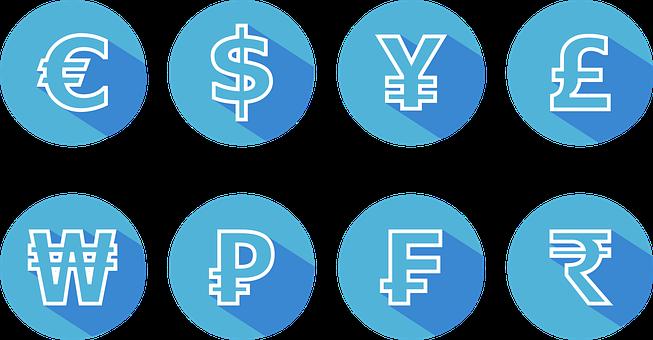 Icon, Currency, Bitcoin, Euro, Dollar, Silver, Book