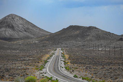 Road, Desert, Highway, Mountains, Arid Landscape