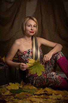 Woman, Autumn, Beauty, Portrait, Female, Girl, Smile