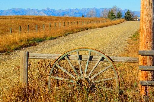 Ranch, Road, Rural, Countryside, Western, Alberta