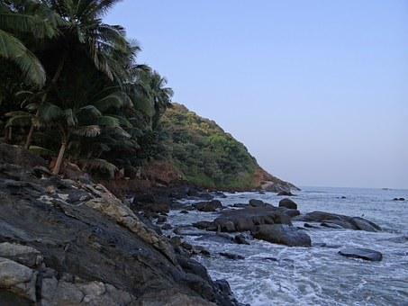 Shore, Sea, Arabian, Ocean, Seascape, Coastline, Wave