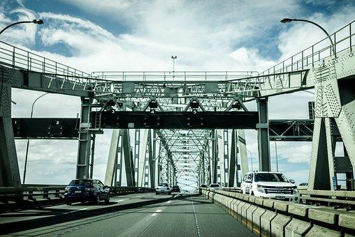 Bridge, Street, Architecture, River, City, Urban