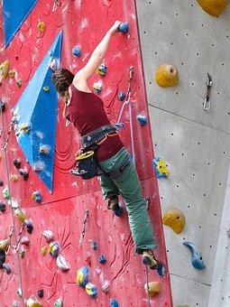 Climber, Climbing Wall, Arm Strength, Arm Stroke, Climb
