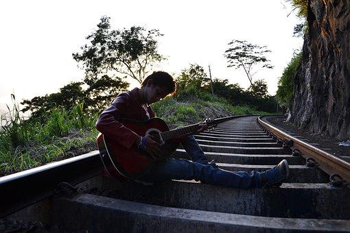 Guitarist, Boy, Pose, Scene, Song, Lyrics, Singer