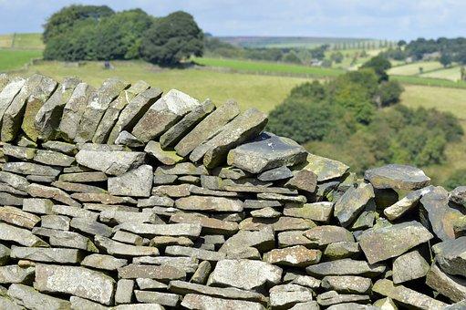 Stonewall, Stone, Wall, Derbyshire, Dry, Rough, Rock