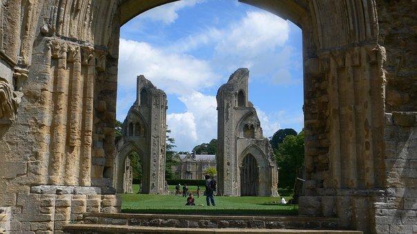 England, Glastonbury Abbey, Somerset, Castle, Landmark