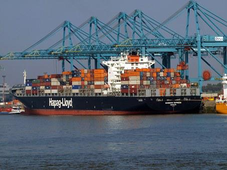 Ship, Freighter, Bangkok, Express, Shipping, Container