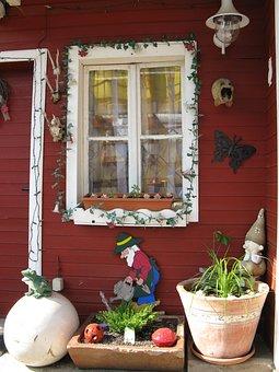 Window, Old Window, Glass, Historically, Flower Box