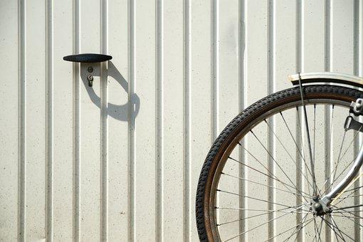 Bike, Bicycle Tires, Garage, Mature, Profile, Spokes