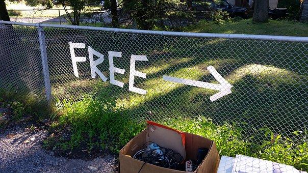 Arrow, Sign, Direction, Free Image, Garage Sale, Street