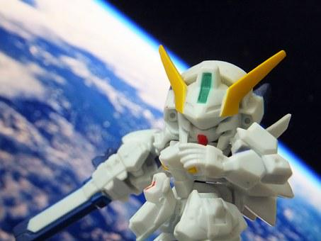 Model, Toys, Collection, Chickasha Pong, Robot, Gundam
