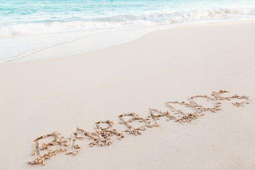 Barbados, Word, Text, Handwriting, Hand-drawn, Coast