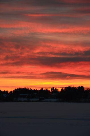 Sunset, Himmel, Norrland, The Evening Sky, Sky, Cloud