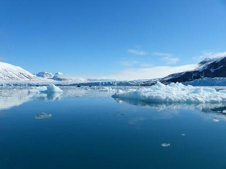 Spitsbergen, Loneliness, Silent, Water, Ice, Mountains