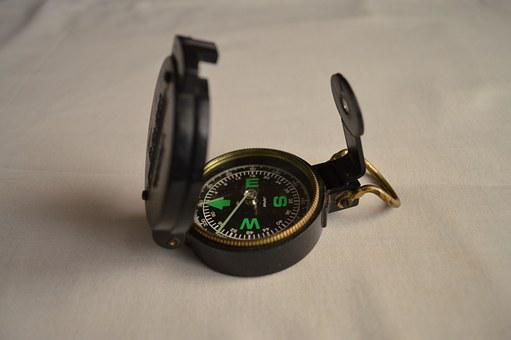 Compass, Navigation, Direction, Journey, Travel, Retro