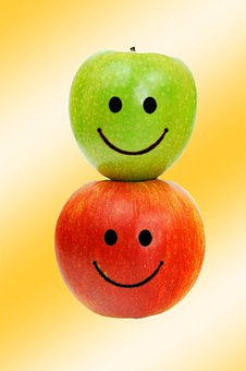Apple, Laugh, Image Editing, Funny, Cheerful