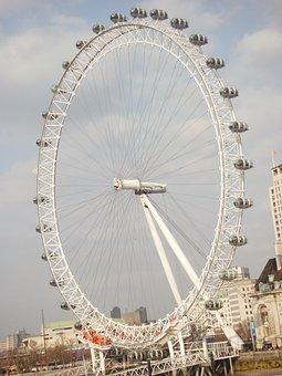 London Eye, London, United Kingdom, Capital, City, Gold