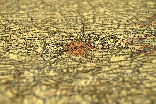 Map, Depth Of Field, Travel, Tourism, Destination