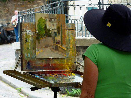 Painter, Mood, France, Architecture, Atmosphere, City