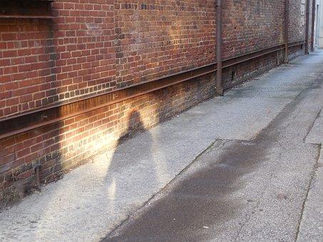 Shadow, Light, Dark, Narrow, Alley, City, Street, Town